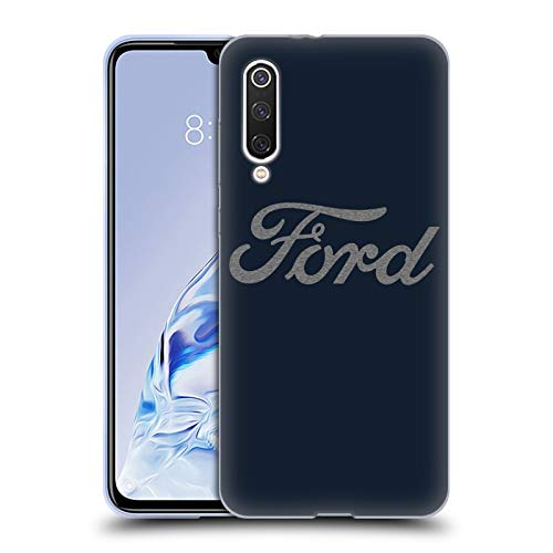 Head Case Designs Officially Licensed Ford Motor Company Detroit Ornament Logos Soft Gel Case Compatible with Xiaomi Mi 9 Pro / 5G