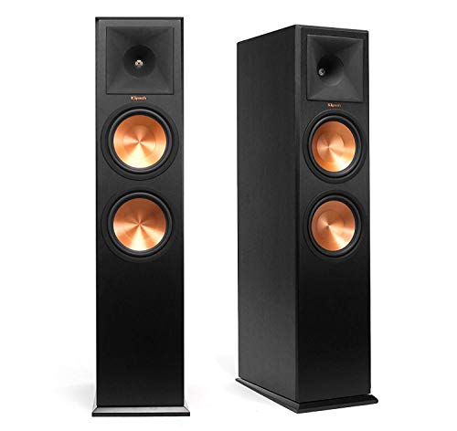 Klipsch RP-280F Reference Premiere Floorstanding Speaker with Dual 8 inch Cerametallic Cone Woofers (Ebony Pair)