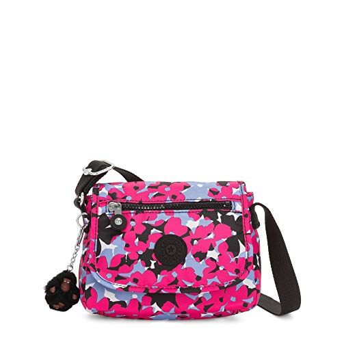 Kipling Sabian - Mini borsa a tracolla, (Spicy Floral Pink), Taglia unica