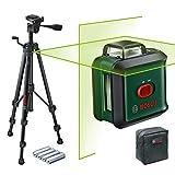 Bosch Niveau Laser UniversalLevel 360 Premium Set (laser vert, portée : jusqu'à 24 m, précision : ± 0,4 mm, auto-nivellement : jusqu'à ± 4°, 4x piles AA, dans une boîte en carton)
