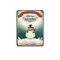 Merry Christmas Reindeer 金属板ブリキ看板警告サイン注意サイン表示パネル情報サイン金属安全サイン