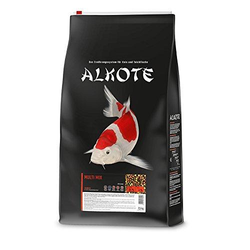 AL-KO-TE, 1-Jahreszeitenfutter für Kois, Sommermonate, Schwimmende Pellets, 6 mm, Hauptfutter Multi Mix, 7,5 kg