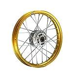 HMParts Pit Bike/Dirt Bike/Cross - Aluminio - Llanta Anodizado 14' Delantero Oro
