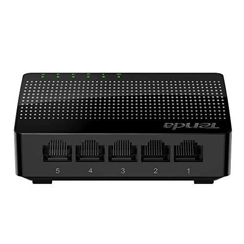 Tenda SG105 Switch de Escritorio Gigabit de 5 Puertos (Jumbo frame de 15Kb, IEEE802.3X, 5 * 10/100/1000 Mbps, Plug and Play, Gaming sin interrupciones, streaming HD, MDI/MDIX automatico)