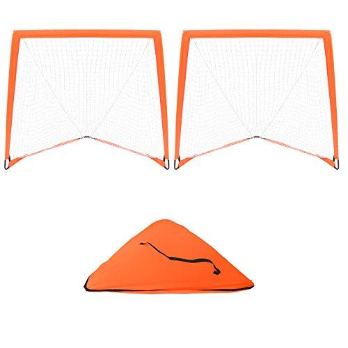 Trademark Innovations 4' x 4' Backyard Lacrosse Goal Net with 2 Lacrosse...