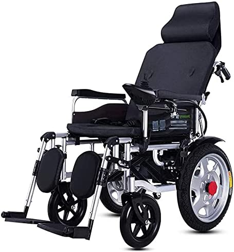 Electric Virginia Beach Mall Wheelchair Adjustable Backrest Lithium Max 78% OFF Batter and Pedal