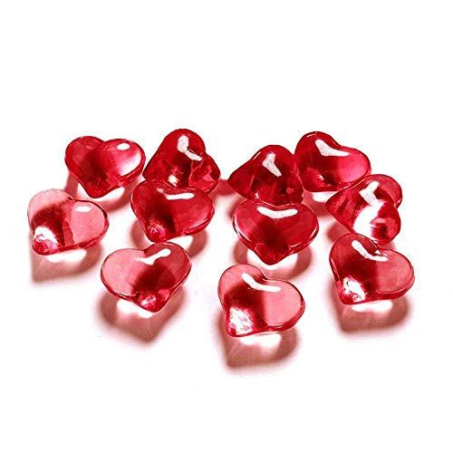 PartyDeco- Cristalli Decorativi, Rosso, AH2-21-007-KARTON