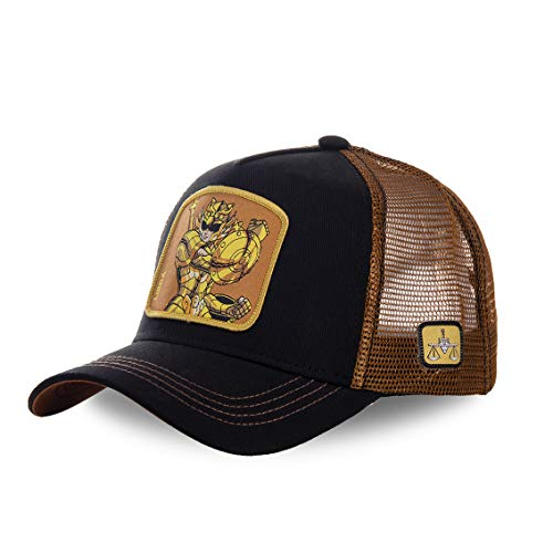 Capslab - Gorra Trucker de Los caballeros del Zodiaco Libra Talla única