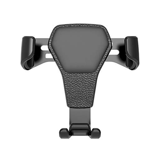 KoelrMsd Patrón de Cuero Soporte para teléfono para automóvil Salida de Aire Marco de navegación de Soporte de Gravedad multifunción Universal