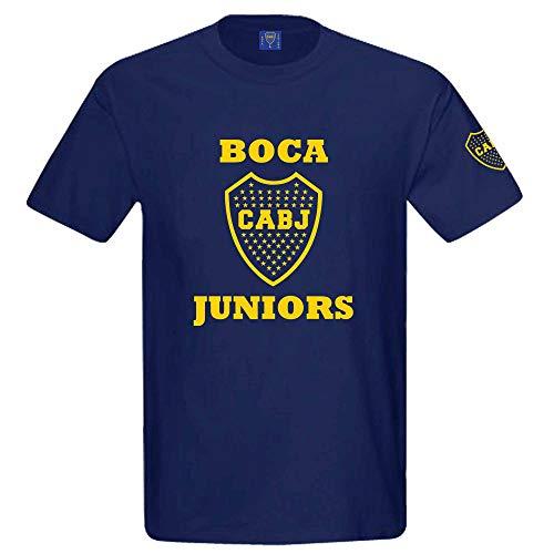 Argentinië officiële Boca Juniors CABJ Crest T-shirt (100% katoen maten S tot 3XL)