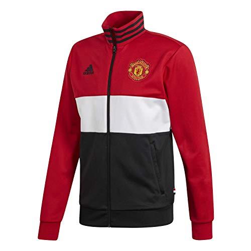 adidas Performance Manchester United 3-Streifen Trainingsjacke Herren rot/schwarz, S
