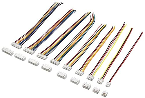 CCHAYE 10 juegos de terminales de alambre 2/3/4/5/6/7/8/9/10 pines de paso macho hembra enchufe JST XH2 54 XH 2 54 mm 15 cm longitud del cable 24AWG cable conector-10 set 4pin mejorar