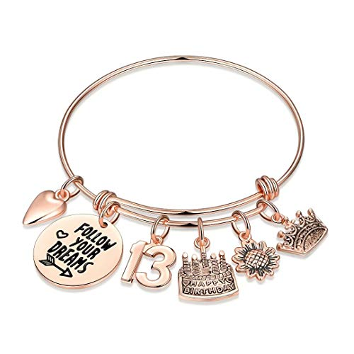 13th Birthday Gifts for Girls, Sweet 13 Turning 13 Year Old Girl Gifts for Birthday Bracelet Bday Jewelry Granddaughter Daughter, Happy Birthday Gifts for Girls Age 13 Teens Kids Christmas Valentines