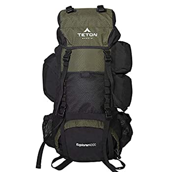 TETON Sports Explorer 4000 Internal Frame Backpack  High-Performance Backpack for Backpacking Hiking Camping  Hunter Green 32  x 18  x 12