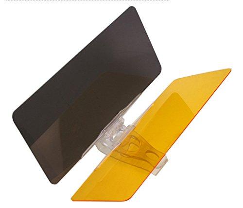 Insun Auto Blendschutz Sonnenblende Verlängerung Tag und Nacht Blendschutz für die Auto Sonnenblende Autoblendschutz 2 in 1 Universellen Sonnenschirm