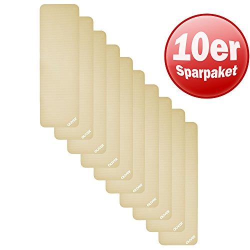 Oliver Gymnastiekmat pak van 10 yogamat pilates fitnessmat in studiokwaliteit | 60 cm breed en 1,40/1,80 lang in voordeelpakket, speciale aanbieding, korting
