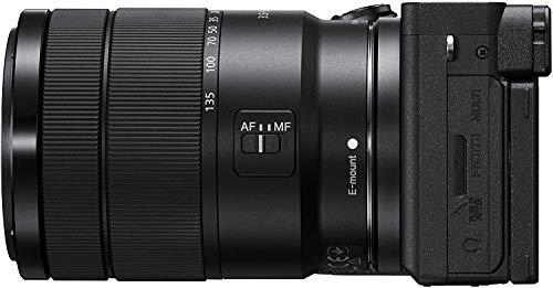 Sony Alpha 6600   APS-C Spiegellose Kamera mit Sony 18-135mm f/3.5-5.6 Zoom-Objektiv (Schneller 0,02s AF, optische 5-Achsen-Bildstabilisierung, 4K HLG Videoaufnahmen, neigbares Display für Vlogging)