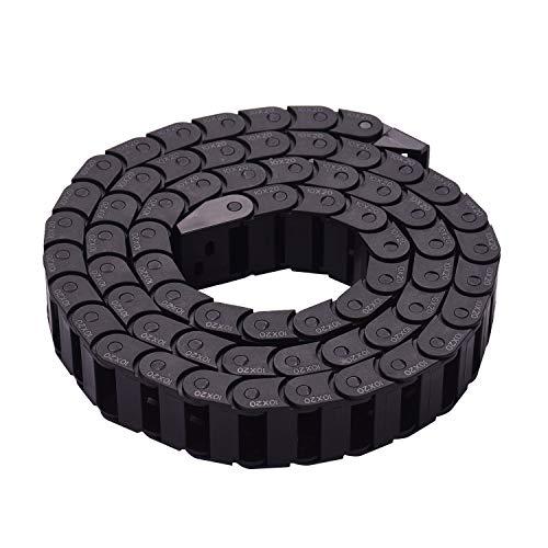 YIJIABINGRU Schleppkettenleitung Towline Getriebekette 10 * 10mm Innere 1M / 3.3ft Länge for 3D-Drucker CNC-Maschine (Size : 10 x 20mm)