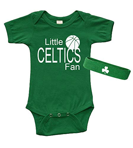 Short Sleeve Onesie & Cap Set - Little Celtics Fan (6-12m, Kelly Green)