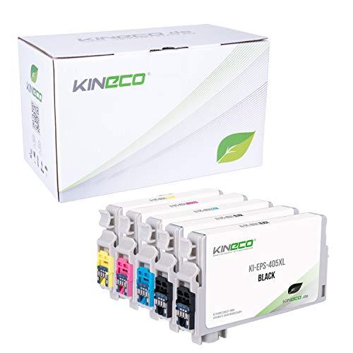 5 Kineco Tintenpatrone mit CHIP kompatibel für für Epson Workforce WF-7840 WF-7835 WF-7830 Pro WF-4830 WF-4825 WF-4820 WF-3825 WF-3820-405XL