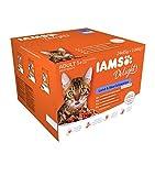 Iams Delights Land & Sea Collection Katzenfutter Nass - Multipack mit Fleisch und Fisch Sorten in Sauce, Nassfutter für Katzen ab 1 Jahr, versch. 24 x 85g