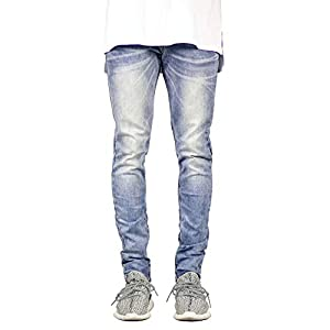 Men's Ankle Zipper Slim Fit Skinny Stretch Jeans Pants
