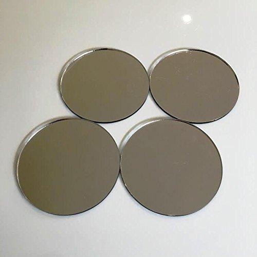 Redondo niño seguro resistente azulejos de pared-Efecto espejo, Sample of 1 x 10 cm