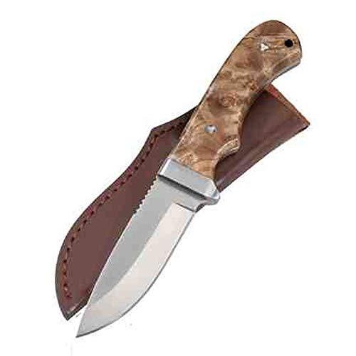PARFORCE Messer mit Wurzelholzgriff