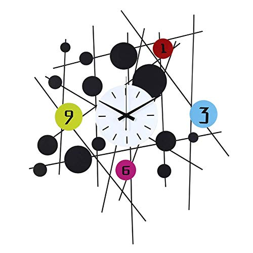Reloj Reloj de Pared Creativo Moderno Contemporáneo Sin tictac Funciona con Pilas Sala de Estar Dormitorio Moda Arte Relojes Decorativos 3D