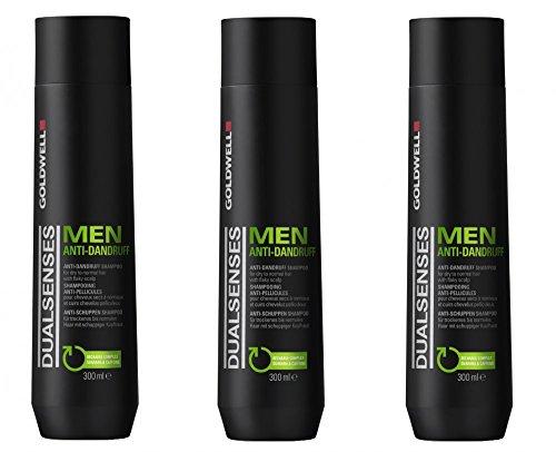 Goldwell Men Anti Dandruff Shampoo 3 x 300 ml Dualsenses gegen Schuppen GW