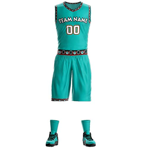 Custom Mesh Athletic Basketball Jerseys Tank Top and Shorts Personalized Printed Team Uniform for Men/Kids/Women