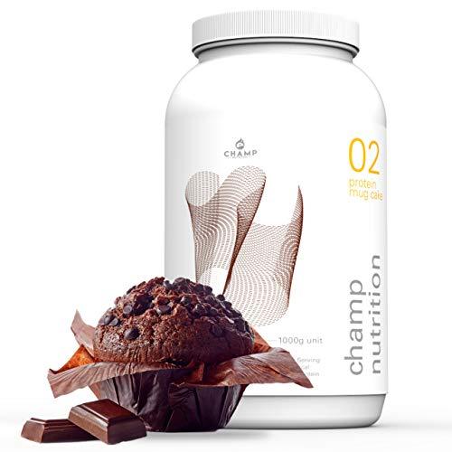Champ Nutrition Protein Schoko-Muffin | 1000g | LOW CARB, LOW SUGAR | fertig in nur 2 Minuten | 24g Protein, 185kcal