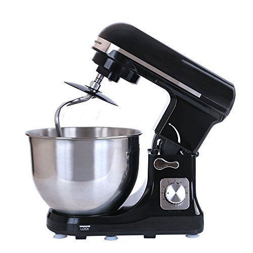 Wonderchef Stand Mixer and Beater, 3 Attachments, 6 Speed Setting, 5L Bowl, 1000W – Black