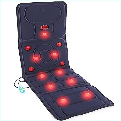 Massagematte mit Wärmefunktion - Akupressur Massagegerät Massageliege Klappbar - Massagekopf-Matratzenauflage, Schmerz Lindern Nacken Rücken Taille Hüfte Bein, Auto Büro Haus, Sitzen und Liegen