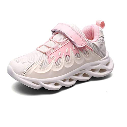 Zapatos Deportivos para niños otoño e Invierno cómodo Suave Suela Absorbente de Golpes Zapatos Deportivos para niños Piel Malla Transpirable Zapatos de Running Ligeros