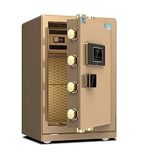 SONGYU Cajas Fuertes Anti-Fuego Antirrobo Caja Fuerte Digital Teclado electrónico de Acero 2 Teclas de anulación Manual Protegen el Dinero Joyas Pasaportes para Negocios Desde casa