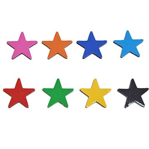 Rrunzfon Frigorífico Colorido Imanes Imanes OfficeMagnet Decorativo pizarras, taquillas o Nevera 8 Piezas de imán de frigorífico (Estrella)