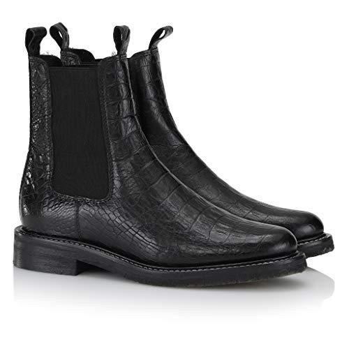 Shoe Biz Kanye Croco White Stitching Black (41 EU, schwarz)