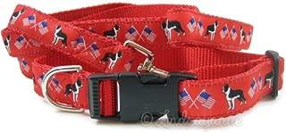 Boston Terrier Dog Collar and Leash Set