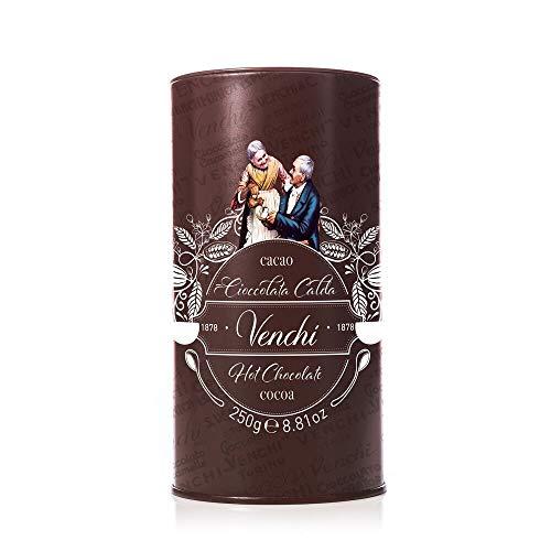 Venchi Cioccolata Calda in Confezione Regalo di Latta, 250g - Senza Glutine