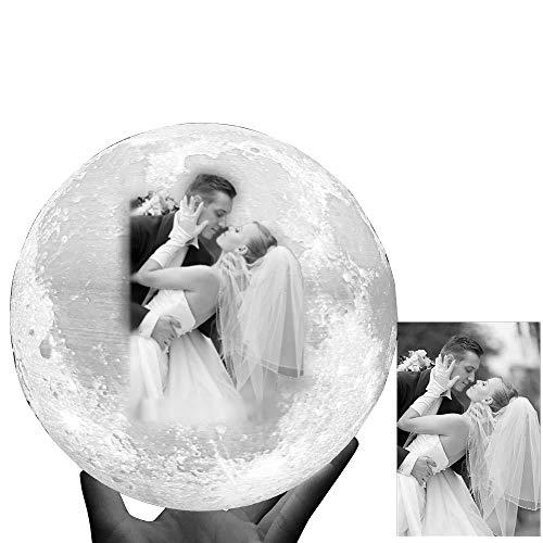 Lámpara de luna personalizada: Ponga/en la luz de la luna, imprimiend