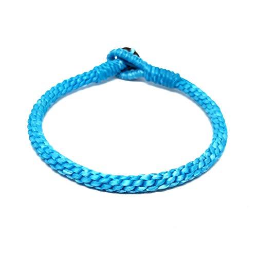 Origin Siam Handmade Thai Buddhist Wristband | Tight Weave Slim Bracelet | Karma Luck Love Friendship | Yoga Meditation Gift (Ocean Blue)