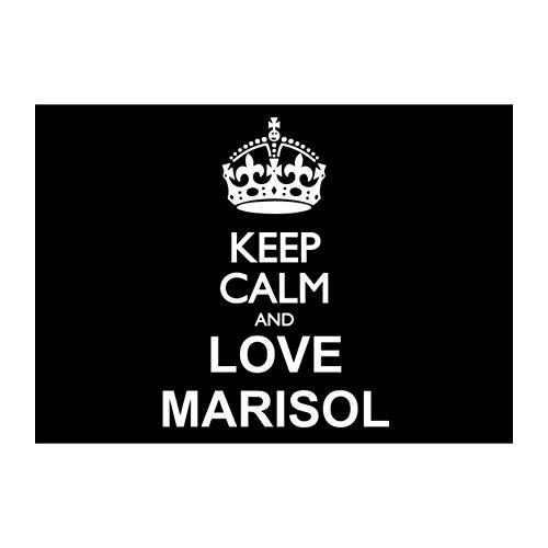 "Idakoos Keep Calm and Love Marisol Sticker Pack x4 6""x4"""