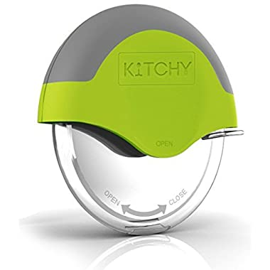 Kitchy Pizza Cutter Wheel - Super Sharp And Easy To Clean Slicer With Protective Blade Guard, The Kitchen Gadget That Cuts More Than Just Pizza (Green)