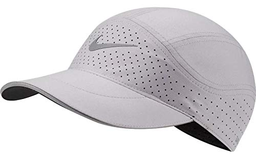 Nike Aerobill Featherlight Dri-Fit Cap, Hat (Gray/Silver, One Size)