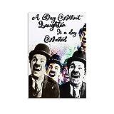 jiandan Canvas It Up Poster sur toile avec citations de Charlie Chaplin 20 x 30 cm