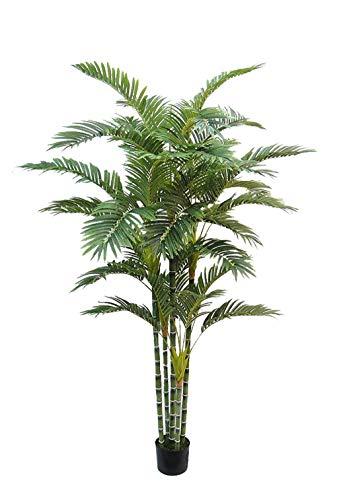 AMERIQUE Gorgeous & Unique 6 Feet Multi-Trunk Phoenix Golden Palm Artificial Tree with Nursery Pot, Feel Real Tech, Green