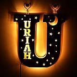 Nombre personalizado Luces de letras LED Letrero letras iluminado Letrero de luna y estrellas para luz nocturna Fiesta de cumpleaños Lámpara de Navidad con alimentación USB Decoración de bar en casa
