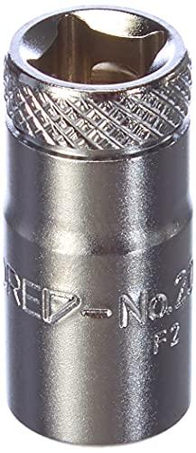 GEDORE Steckschlüsseleinsatz, Nuss, 1/4 Zoll 6,3 mm Antrieb, 6-kant, 8 mm Weite, Werkzeug, 20 8, Stahl verchromt