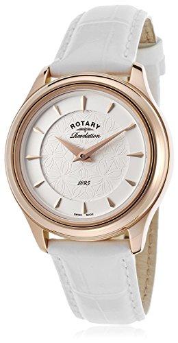 Rotary Quarz Uhr mit echtes Leder Armband LS02974/02/16